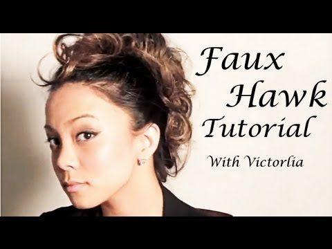 Messy Faux Hawk - Chic Messy Faux Hawk Hairstyle Tutorial. Victorlia Philalack w...