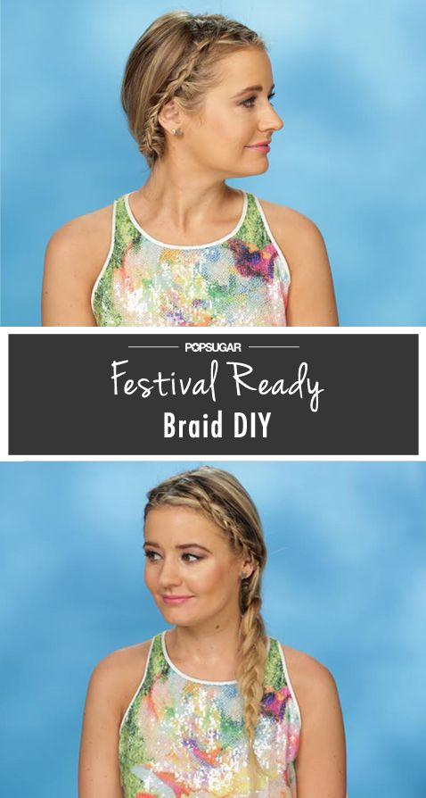 Music-Festival Hair Idea: Braids Within a Braid