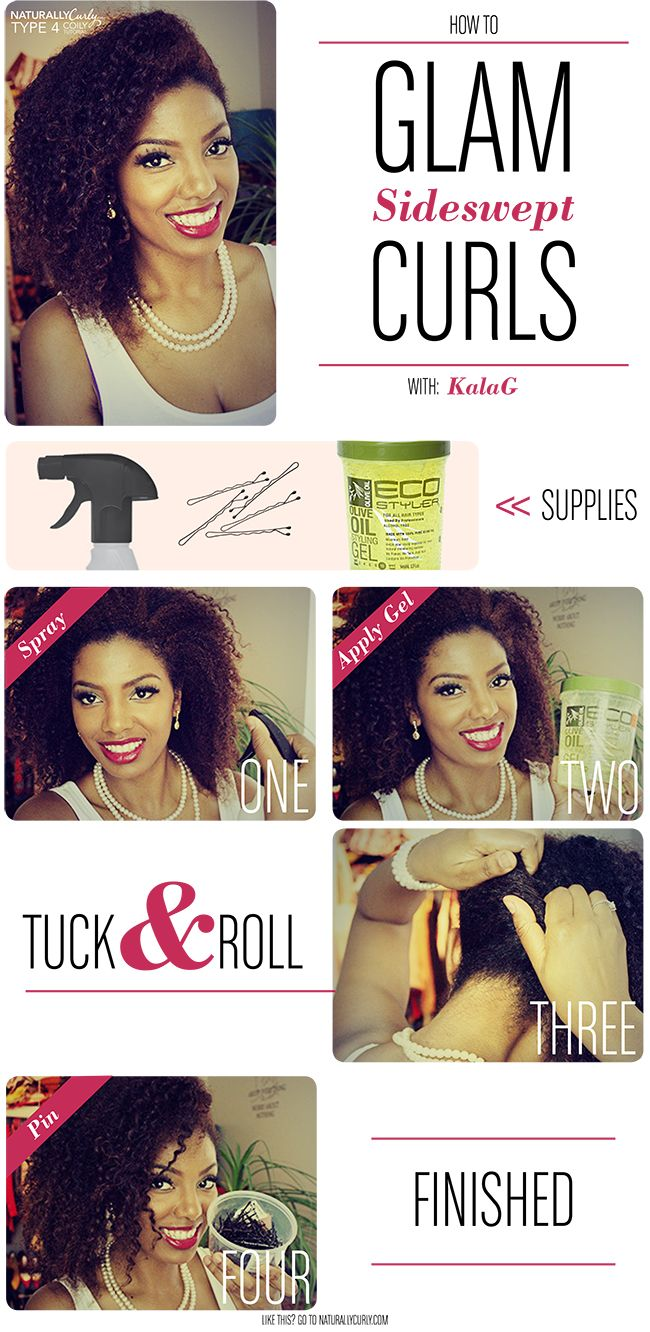 Old Hollywood Curls   Glam Sideswept Tutorial for Curly Hair