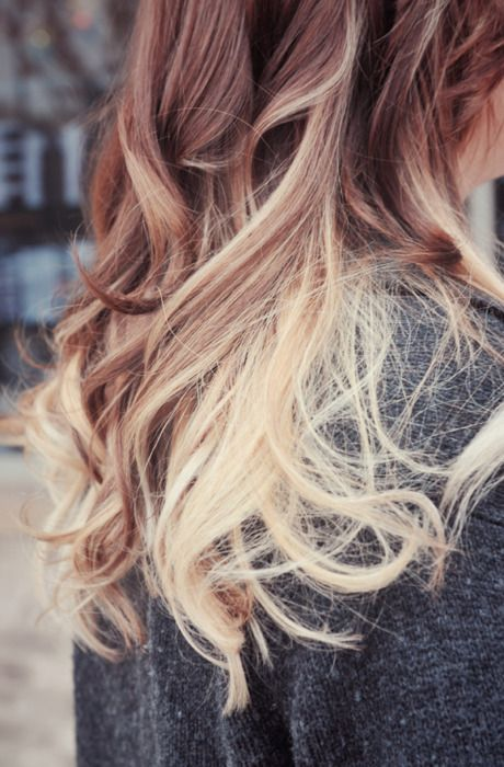 Ombre wavy hair