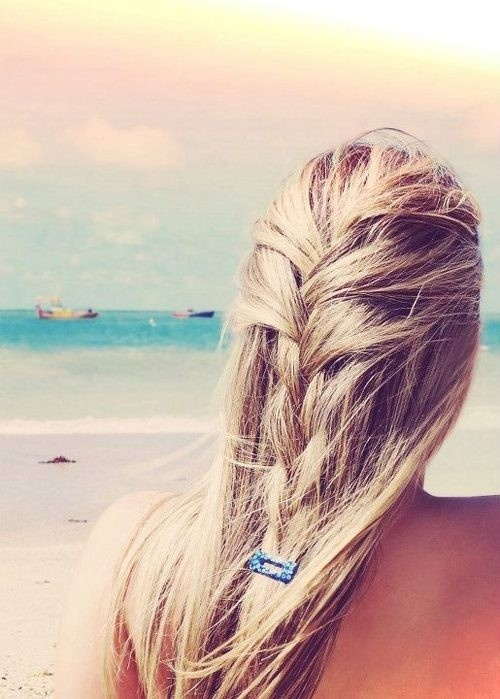 Perfect beach hair.