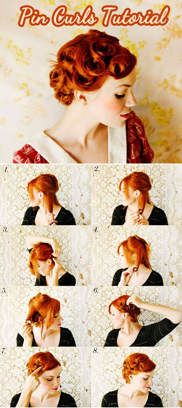 hair tutorials pin curls pictorial i like the color there is