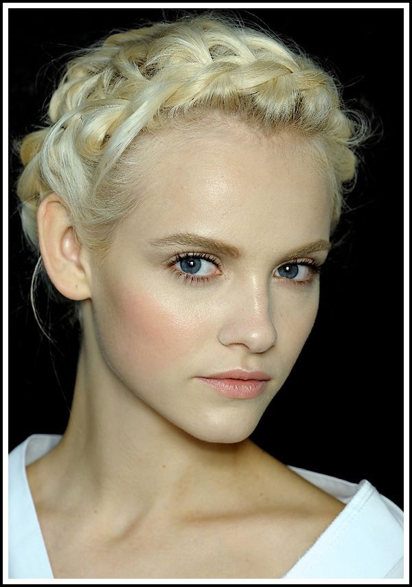 Platinum blonde braids