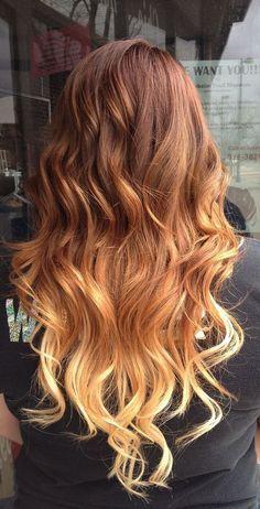Pretty ombre layered curls.