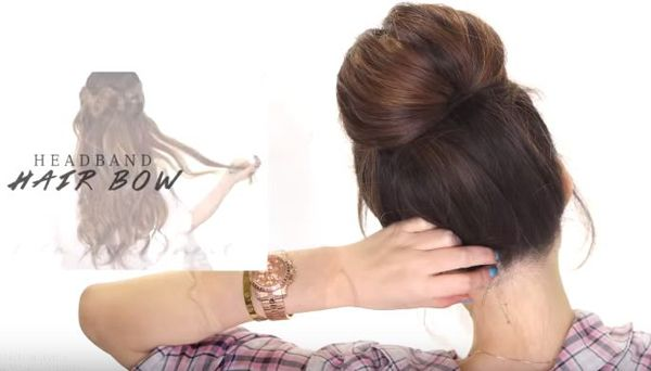 Quick Bubble Bun Hair Tutorial #bun #hair #DIY #easy #style