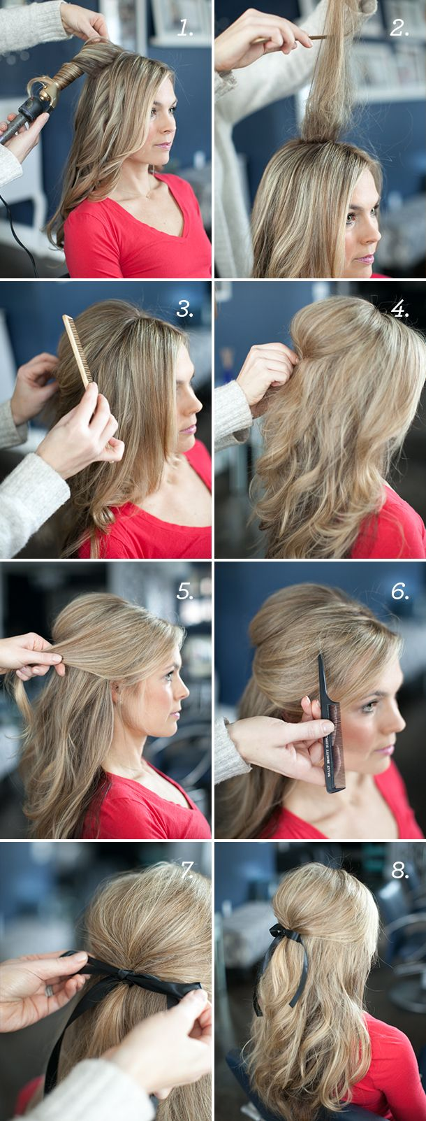 Ribbon Half Updo Tutorial by Martha Lynn Kale | photo by Kate Stafford for Camil...
