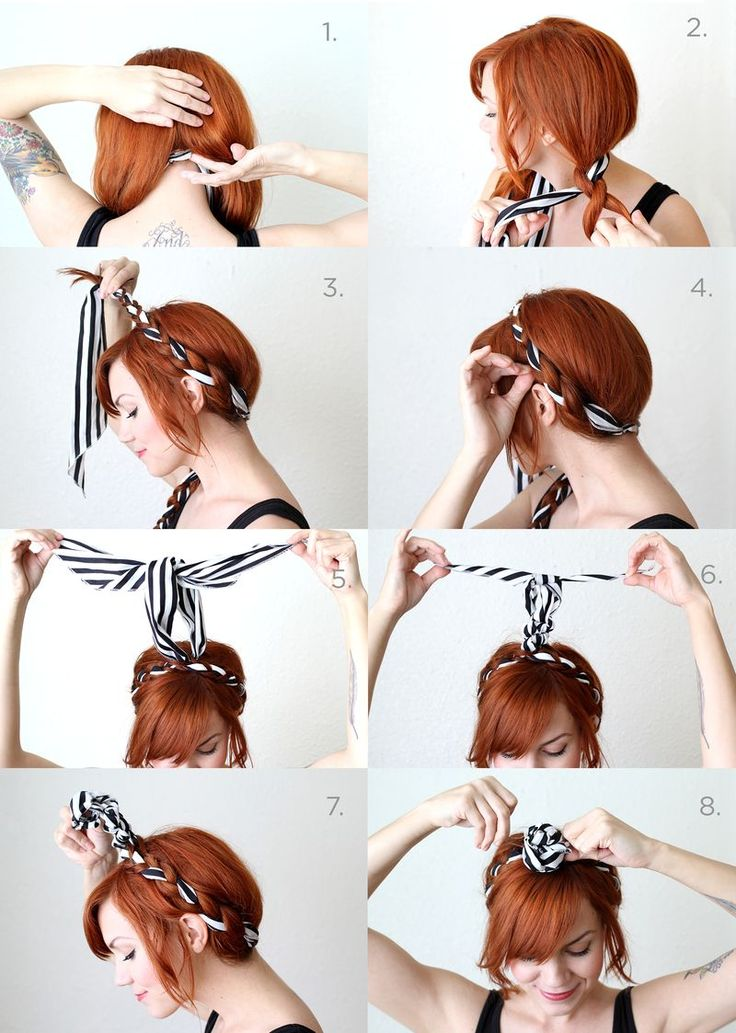 Scarf and braids tutorial