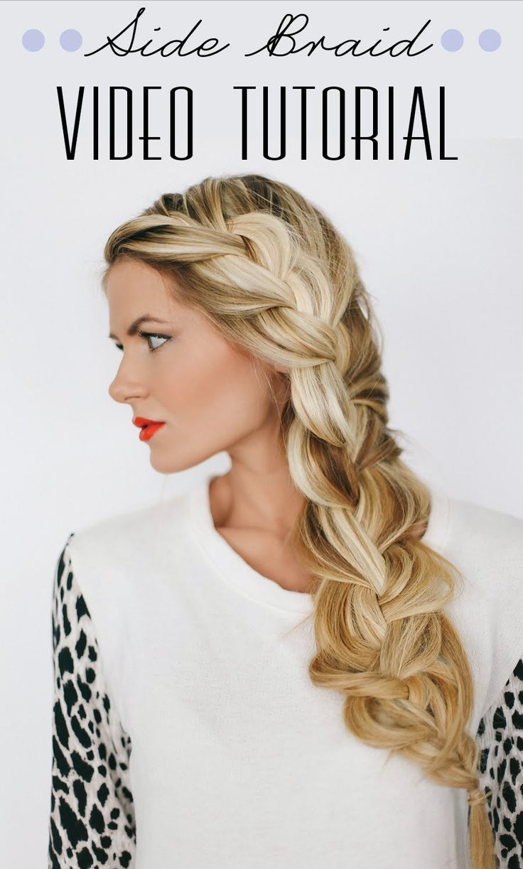 Side Braid Tutorial by Barefoot Blonde - Love this braid! May have to think abou...