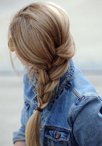 Simple braid and honey hair