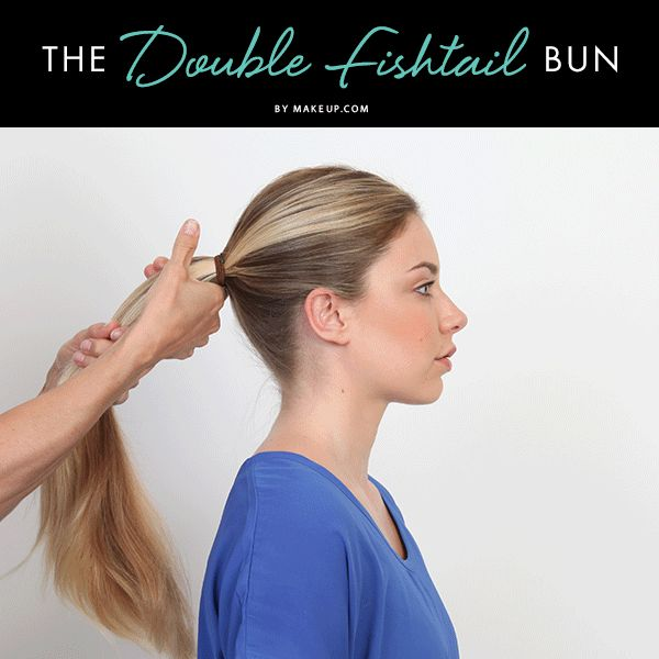 Still haven't learned how to double fishtail bun? This simple fishtail bun t...