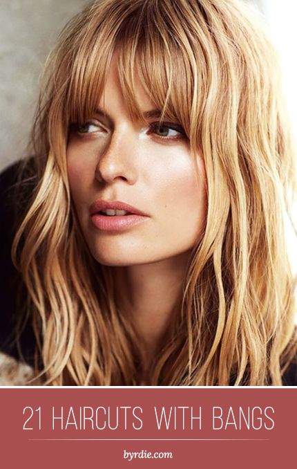 The best haircuts with #bangs: 21 different beautiful styles. // #hair #inspirat...