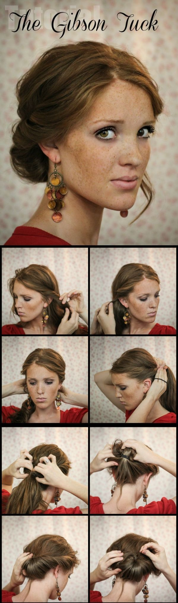 The Gibson Tuck - DIY Step By Step Hair Tutorial - Hairstyles & Haircuts   Hairs...