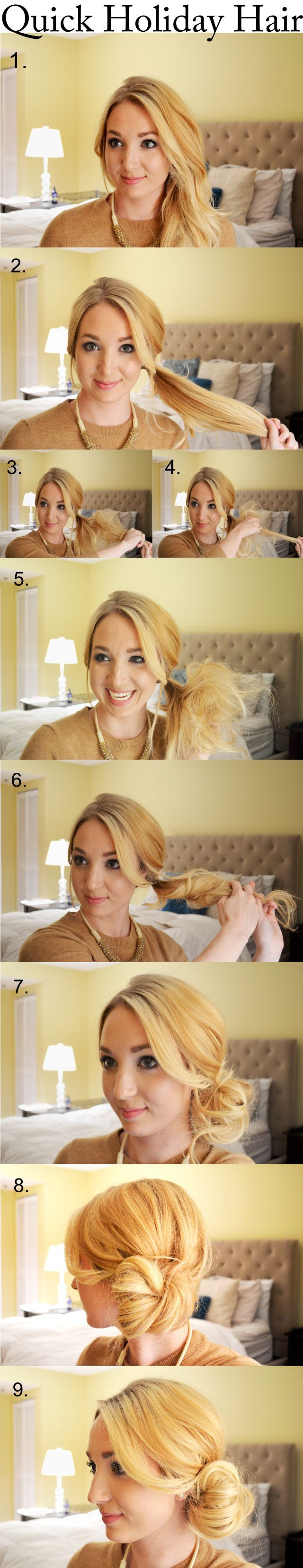 – the perfect low side bun – DIY – Hairstyle – Haircuts – Step By Step...