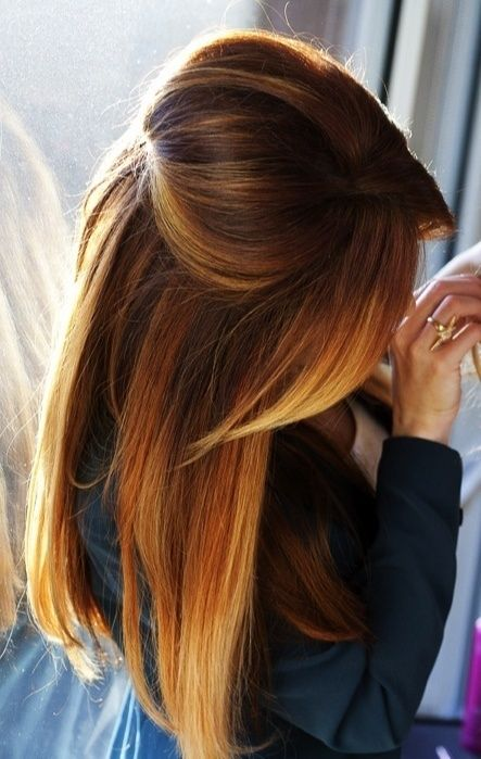 This hair color is to die for.
