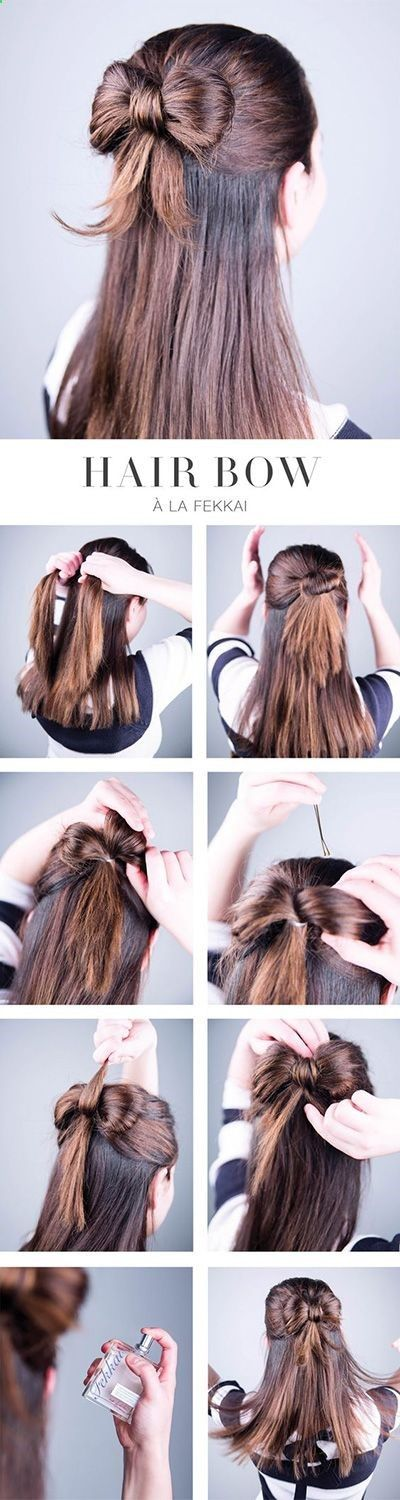 This hair tutorial will show you how to create a Knotted Loop Waterfall Braid. ....