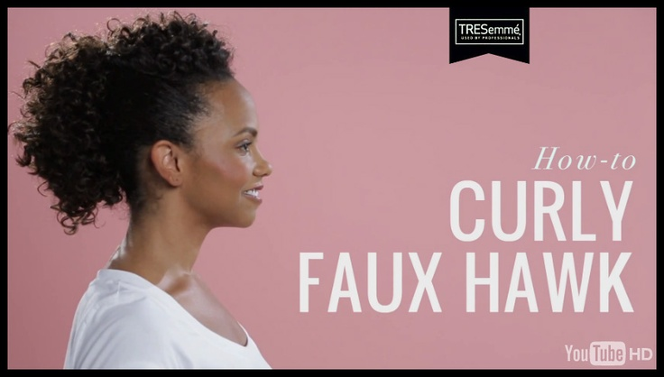 TRESemmé Hair How-to: Curly Faux Hawk