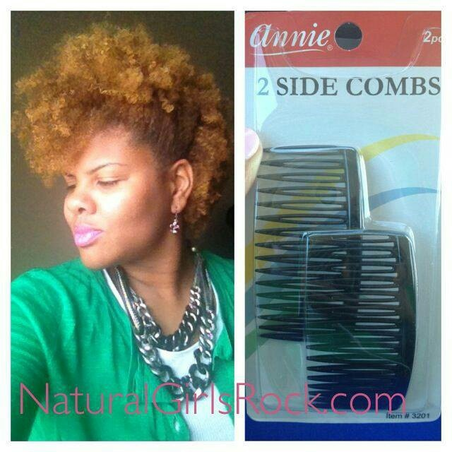 Use side combs to create faux-hawk!