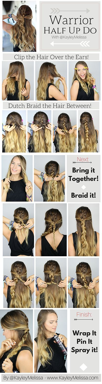 Warrior Braid Hairstyle Tutorial This is so bohemian and perfect for summer and ...