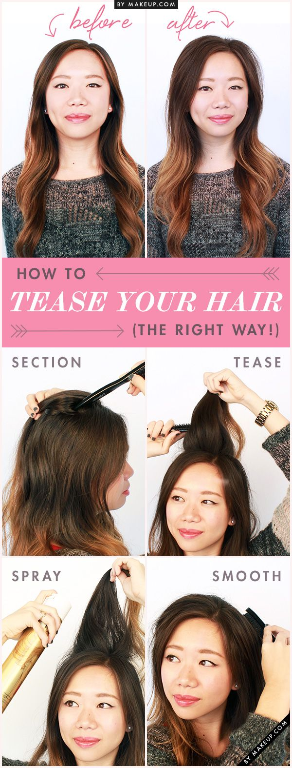 Section, tease, spray, and smooth. Here are the steps you SHOULD be taking to te...