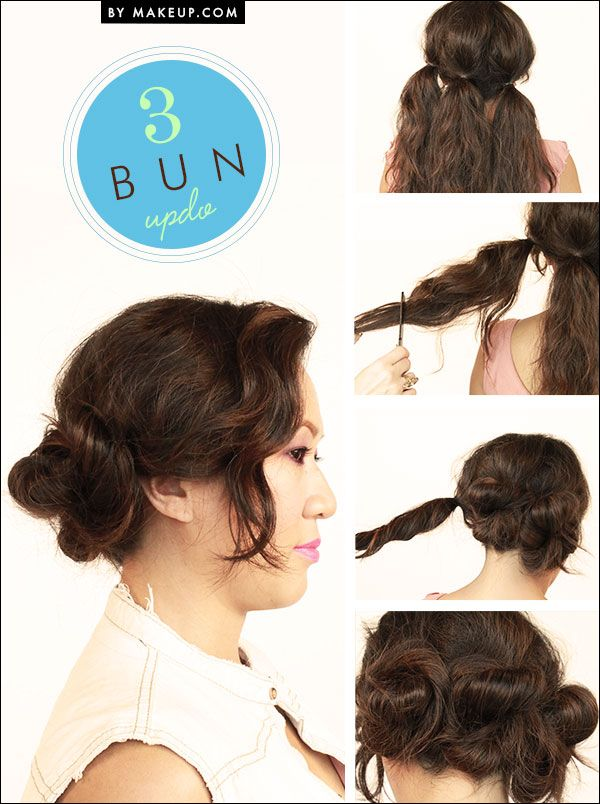 Change things up with this easy 3 bun updo! Not your style? See here for 3 other...