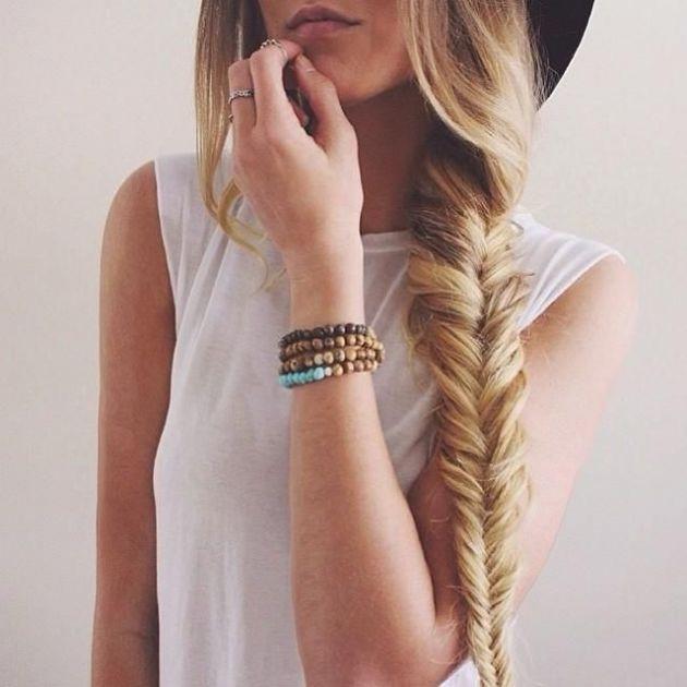 When it doubt, do a fishtail braid.
