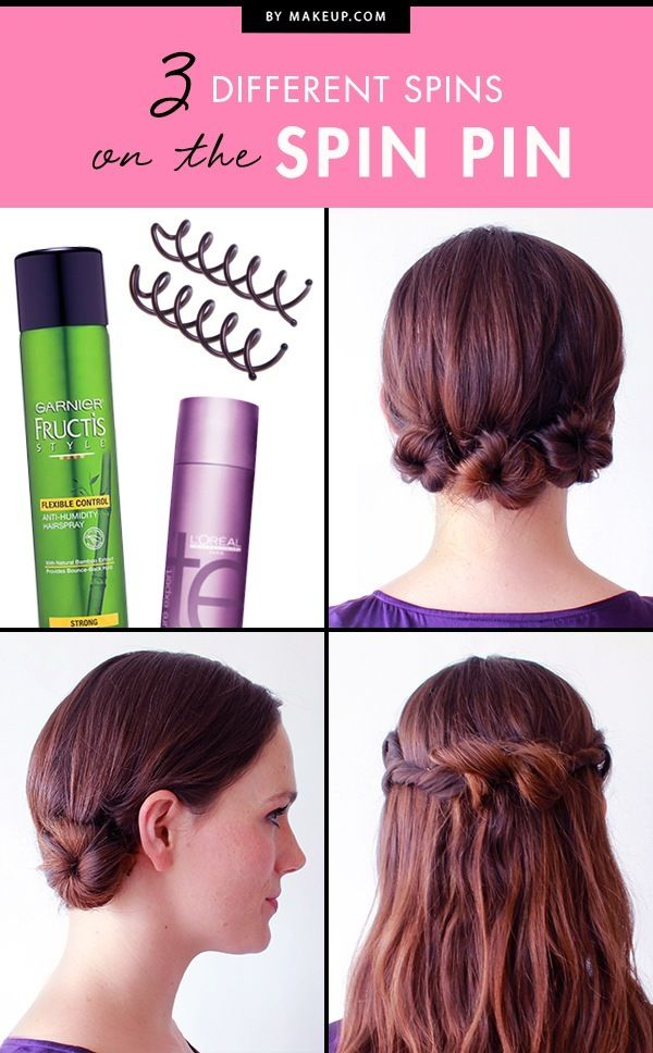 With just a few spins, hair pins create heavenly hairstyles — that stay put! T...