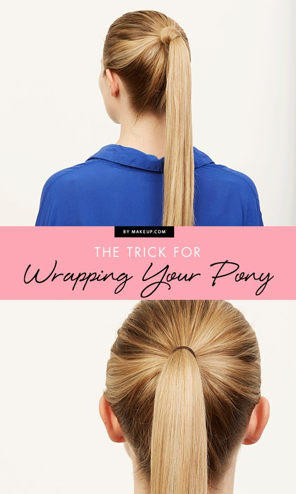 You can never have too many simple ponytail hairstyles and this trick for wrappi...
