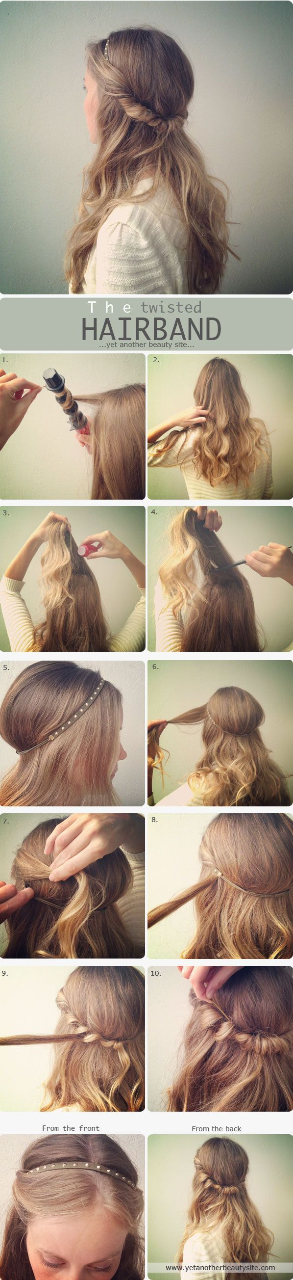 You don't want to wear your long hair in a simple way or you want to be a head...