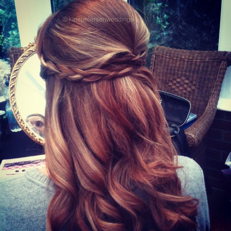 Braided half up half down wedding hair  Just stealing your idea Laura for Adeles...