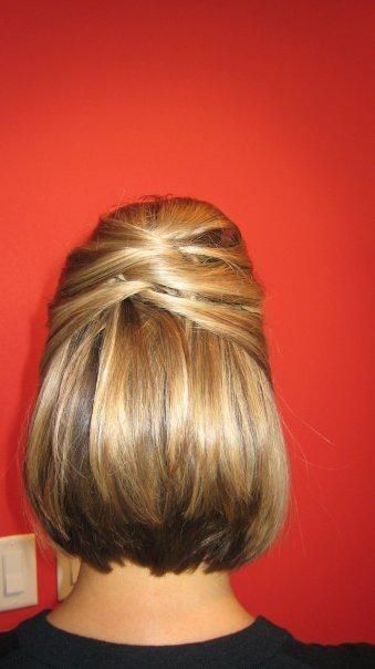 Hair Style: 1st March-in hairstyle with floral halo & flower + pearl drooping ea...