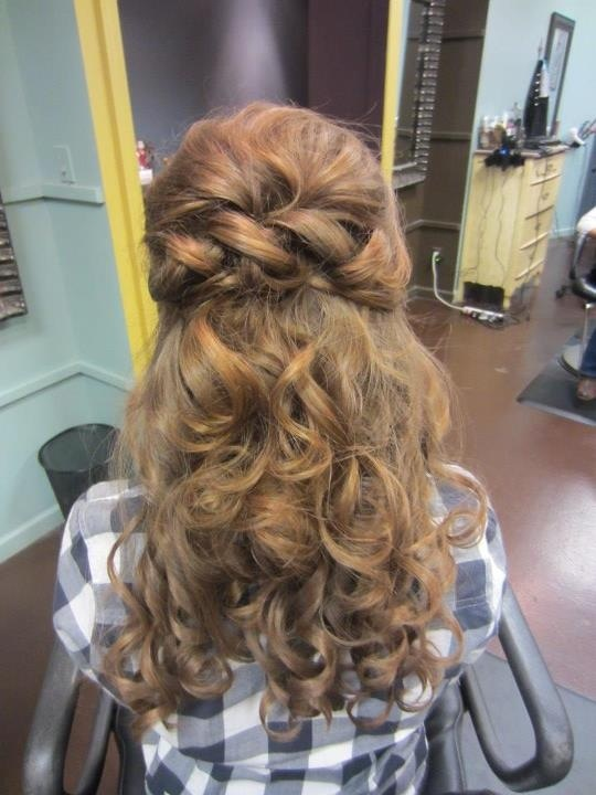Half up half down hairstyle for a debutante ball. Stylist Ashley White/ So Vain ...