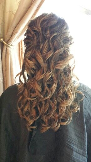 half up half down? Wedding Hair. All.Curls. Half up-half down  Robin S. S. S. Sc...