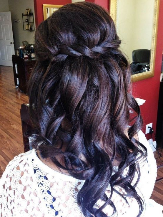 rope braid + curls =   Another possible hairstyle idea! I don't know if my h...