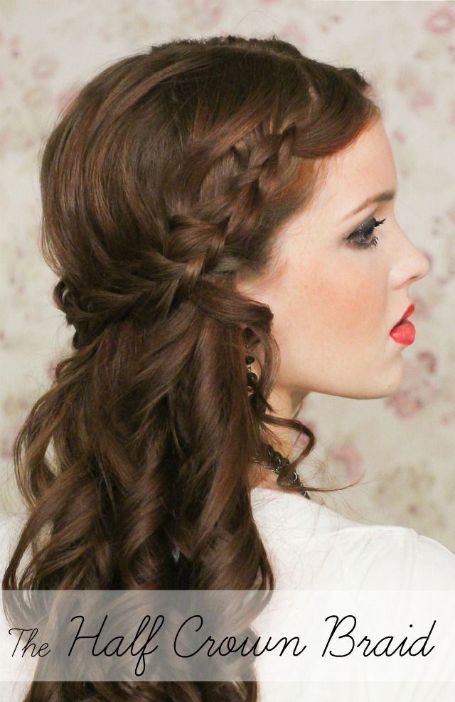 The Freckled Fox : Holiday Hair Week: The Half Crown Braid