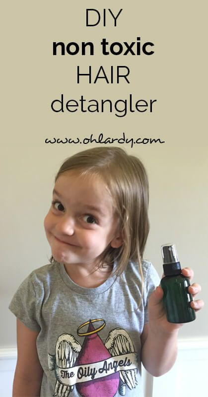 DIY non-toxic hair detangler - Oh Lardy :: Want some simple tips to help you det...