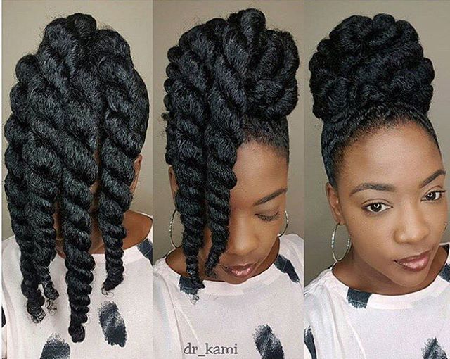 Awesome! Hair goals @dr_kami #repost #hairgoals #blackhair #nicehair #makeup #aw...