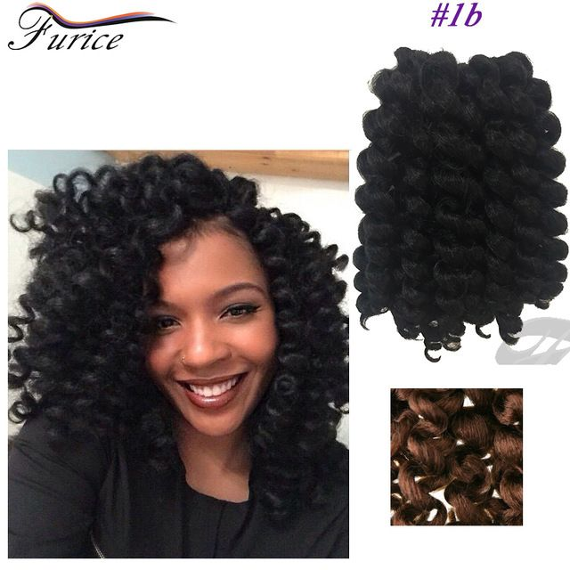 Best 8-10inch Crochet Extensions 75g/Pack Jumpy Wand Curl Braids Afro Kinky Twis...