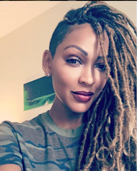 Meagan Good Gets Blonde Faux Locs for Fall