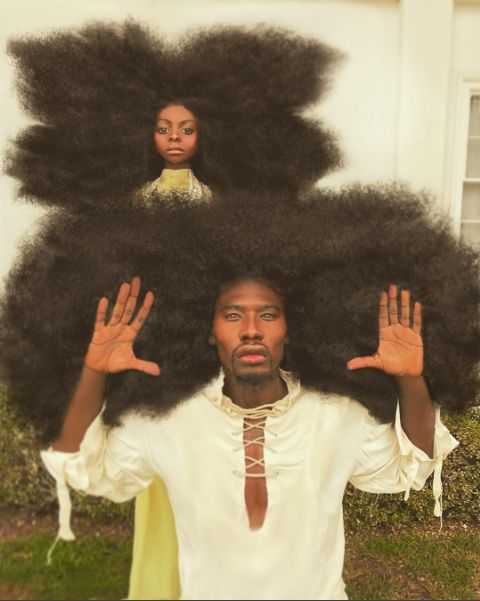 This father-daughter team is taking over the internet with their awesome hair