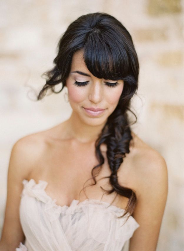 24 Beautiful Bridesmaid Hairstyles For Any Wedding - Sweet and Simple Fishtail B...