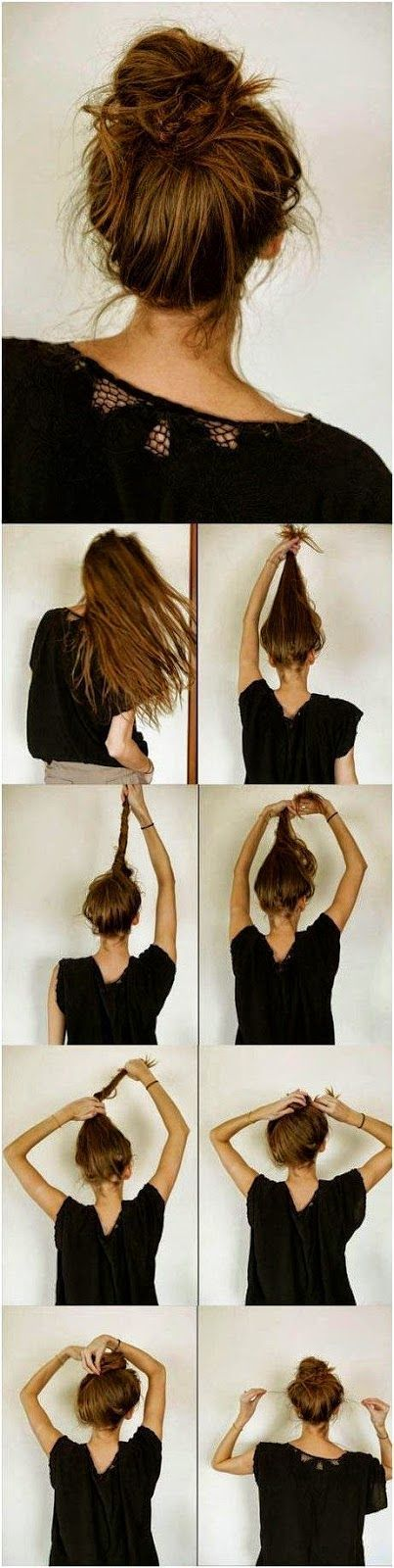 5 Easy Messy Buns For Long Hair Tutorial  Quick, Easy, Cute  and Simple Step By ...