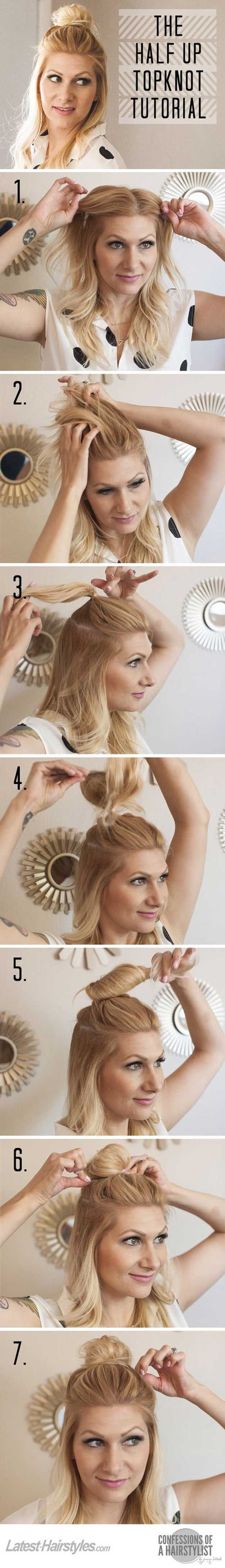 Amazing Half Up-Half Down Hairstyles For Long Hair - How To Do Hairstyle Trend H...