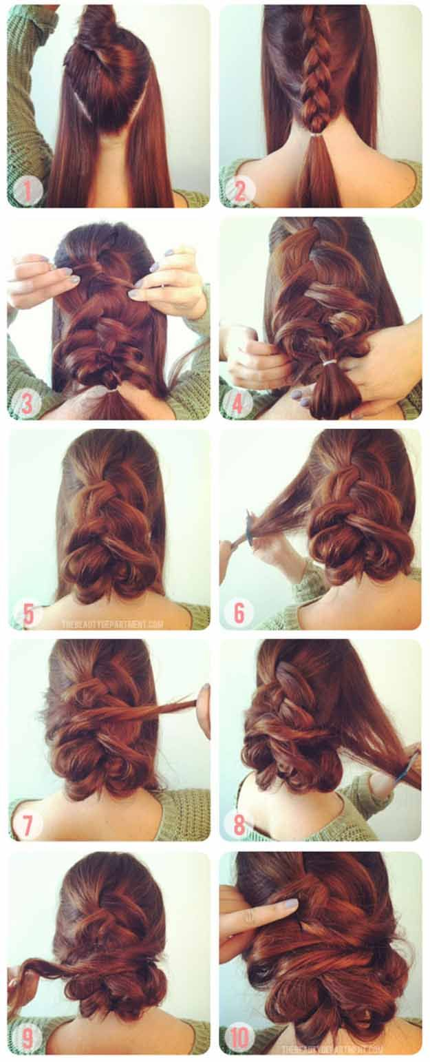 Best Hair Braiding Tutorials - 1 INSIDE OUT FRENCH BRAID & 2 TWISTS - Step By St...