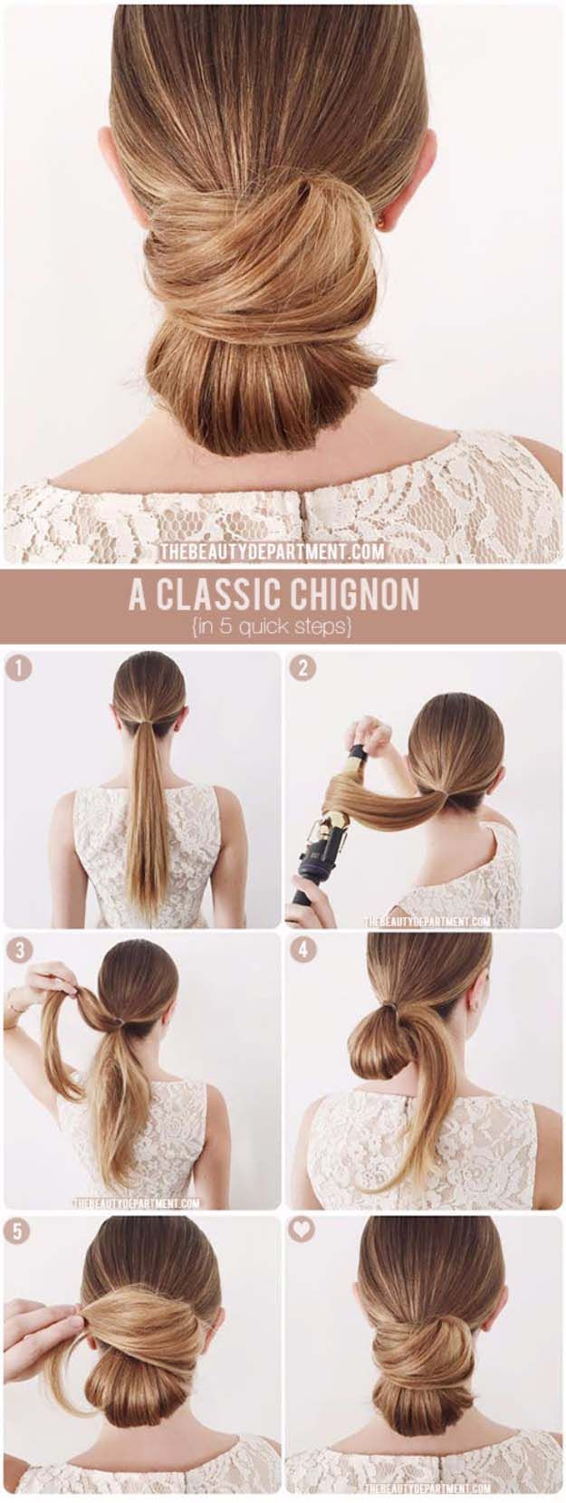Best Hairstyles for Brides - Classic Chignon- Amazing Hair Styles and Looks for ...