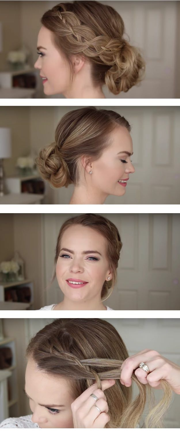 Best Hairstyles for Brides - Four Strand Braid Low Bun- Amazing Hair Styles and ...