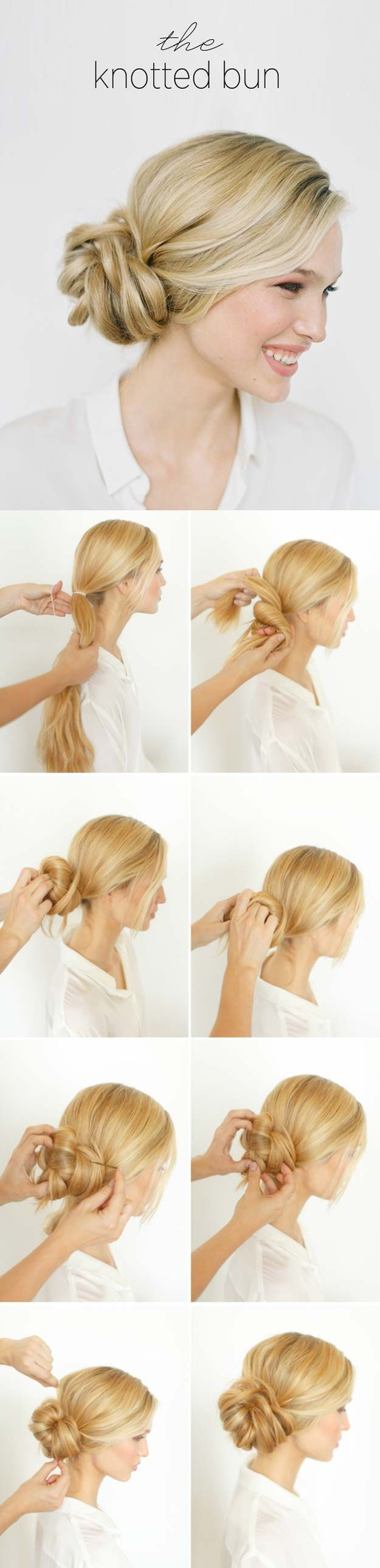 Best Hairstyles For Your 30s -DIY Knotted Bun- Hair Dos And Don'ts For Your 30...