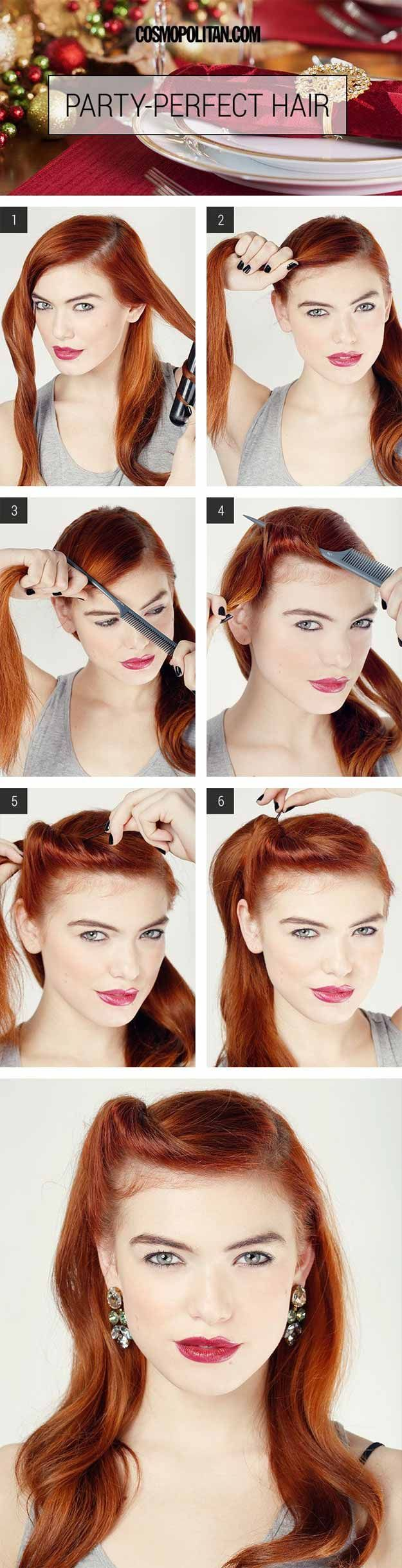 Best Hairstyles For Your 30s -Party Perfect Glam Roll- Hair Dos And Don'ts For...