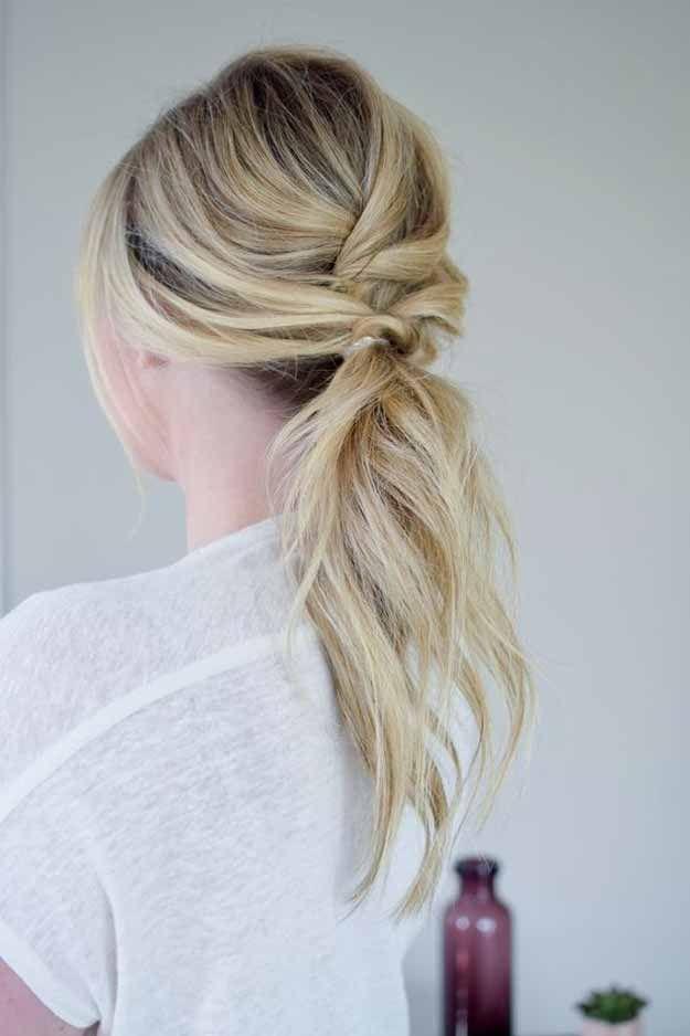 Best Pinterest Hair Tutorials - The Textured Ponytail - Pinterest Ideas - Check ...