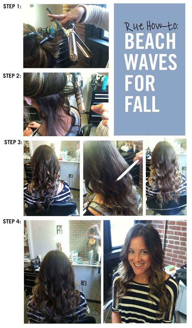 Easy Beachy Waves Tutorials for Hair - Beach Waves for Fall - DIY And Easy Step ...