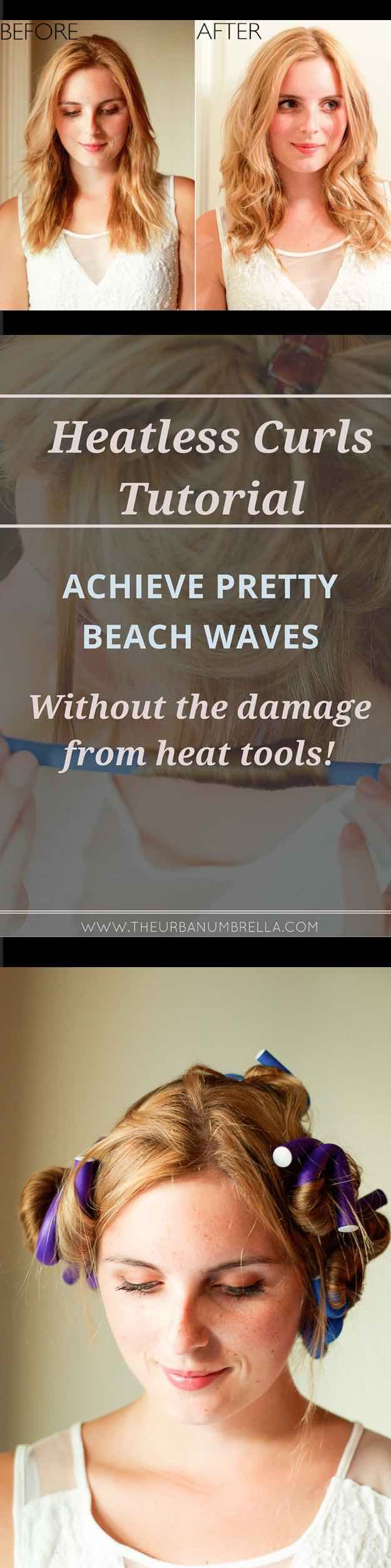 Easy Beachy Waves Tutorials for Hair - Easy Heartless Beach Waves - DIY And Easy...